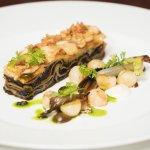 Wild mushroom lasagna with celeriac, thyme