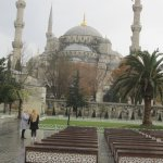 Mezquita Azul vista desde camino a Santa Sofia