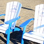 Adirondack Chairs outside