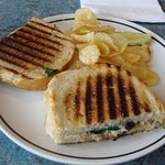 Image shows a too salty chicken pannini