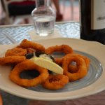 Fried Squid at the Raffles Courtyard