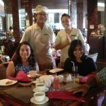 My family with our super-stars Ngurah and Desi at breakfast!