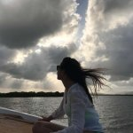 Disfrutando del recorrido en barco capitaneado por @henriancet