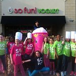 Stop into So Fun, enjoy some fro-yo, and take a funny picture or selfie and direct message it
