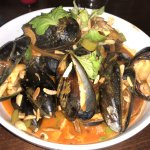 Moules with tasty sauce
