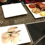 Big Night Out main course + shrimp side