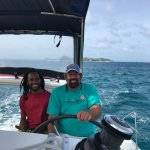 Gumption and I on the way back to Virgin Gorda after another amazing tour.