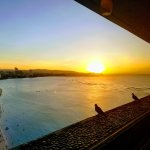 From the Top of the Reef Bar on the 18th floor - Sunset over Tumon Bay