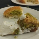 Baklava and Kunefe (a sweet cheese, crunchy, thing!)