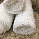 Pubic hair in towel