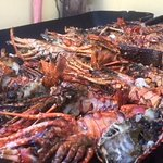 Grilled lobsters