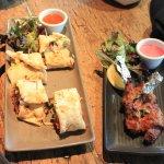 Chickn kathi roll and lamb chop