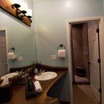 Suite 1 - Vanity & Shower area