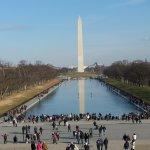 Washington monument and reflecting pool