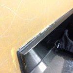 Bathroom vanity-sad looking attempt at repair