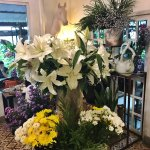 flower arrangements all over