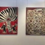 Paintings by Linda Napaltjarri Syddick and Wentja Morgan Napaltjarri