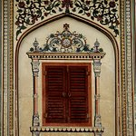 Not a real window. This is the beauty of architecture in City Palace Jaipur