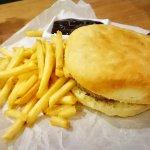Бургер Джим с доп. картофелем фри