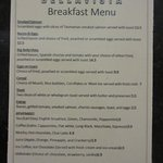 Breakfast Menu available 07:00 - 10:00
