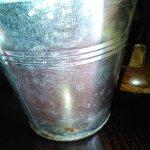Cutlery bucket showing rust around the bottom