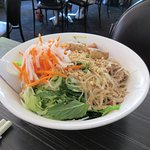 Rice Vermicelli with Fine Meat and Spring Roll
