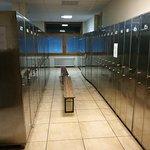 Ski locker room.