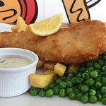 Fish and chips at Mewsbrook Park Cafe