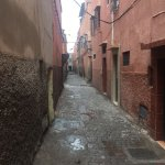 the Riad's door is on this alley