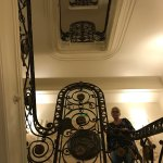 The beautiful staircase of the hotel