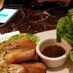 Thai chicken and shrimp spring rolls
