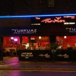 The Turkuaz Restaurant at night