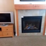 Gas fire place.