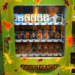A machine that sells bugs covered in chocolate, shrunken head & the Berlin Wall!