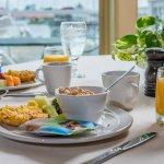 Daily breakfast + chef-prepared omelets are provided with your stay!
