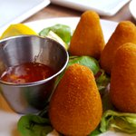 Coxinha de frango (filled with shredded chicken)
