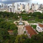 Vista da bela Praça da República, do 13º andar.