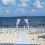 Set-up of our beach wedding