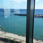 View of the old Arrecife harbour from the room