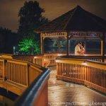 Couple celebrates their wedding vows.