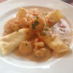 Shrimp and Goat Cheese Crepes