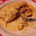 I think it was flounder or grouper with ocean sauce...very disappointing.