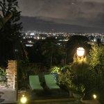 Vista maravilhosa do SkyLine de Recife do balcony do Restaurante da Pousada.