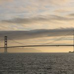 the view from the ferry from sausilito to san fran