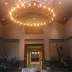 Main lobby with chakra bowls