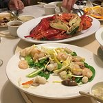 Lobster, Shrimp and Scallops with Snow Peas