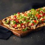 Porchetta and Roasted Pepper Flatbread