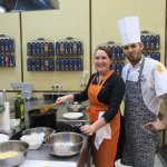 Me, cooking delicious and heavy Russian food with the chef Artëm