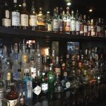 The extensive scotch and tequila selection offered at Frost Bar