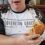 "Me and my ""Garbage"" burger!"